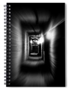 Altered Image Of A Tunnel Leading Out Of The Catacombs In Paris France Spiral Notebook