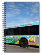 Ameren Missouri And Missouri Botanical Garden Metro Bus Spiral Notebook