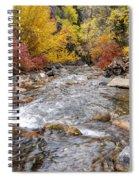 American Fork Canyon Creek In Autumn - Utah Spiral Notebook