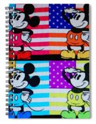 American Mickey Spiral Notebook
