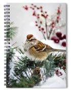 Christmas Sparrow Spiral Notebook