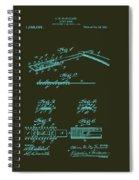 Antique Safety Razor Patent 1912 Spiral Notebook