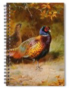 Autumn Covert Pheasants Spiral Notebook