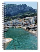 Arrival To Capri  Spiral Notebook