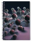 Arsenic Molecular Structure Spiral Notebook
