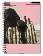 Art Homage Andrew Wyeth Bucket Fence Collage Near Aberdeen South Dakota 1965-2012 Spiral Notebook