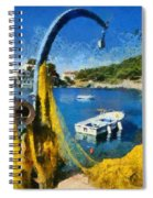 Asos Village In Kefallonia Island Spiral Notebook