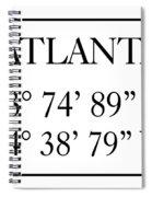 Atlanta Coordinates Spiral Notebook