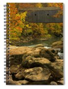 Autumn At Bulls Bridge Spiral Notebook