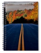 Autumn Colors And Road  Spiral Notebook