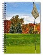 Autumn Golf Spiral Notebook