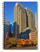 Autumn In Boston Spiral Notebook