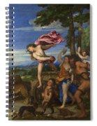 Bacchus And Ariadne Spiral Notebook