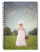 Basket With Flowers Spiral Notebook