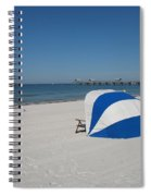 Beach With Beachchairs Spiral Notebook