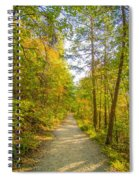 Beautiful Autumn Forest Mountain Stair Path At Sunset Spiral Notebook