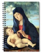 Bellini's Madonna And Child In A Landscape Spiral Notebook