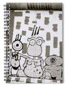 Berlin Wall Avatars Spiral Notebook