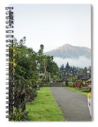Besakih Temple And Mount Agung View In Bali Indonesia Spiral Notebook
