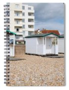 Bexhill Beach Huts Spiral Notebook