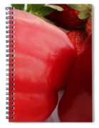 Big Red Peppers And Strawberries  Spiral Notebook