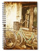 Bikes And A Window Spiral Notebook