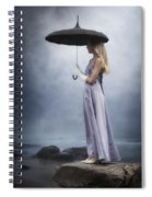 Black Umbrella Spiral Notebook