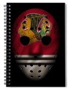 Blackhawks Jersey Mask Spiral Notebook