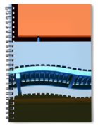 Blue And Orange Spiral Notebook