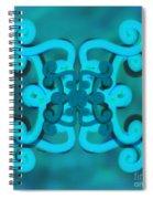 Blue Double Scroll Spiral Notebook