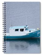 Blue Moored Boat Spiral Notebook