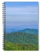 Blue Ridge Parkway National Park Sunset Scenic Mountains Summer  Spiral Notebook