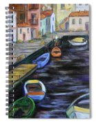 Boats In Front Of The Buildings IIi Spiral Notebook