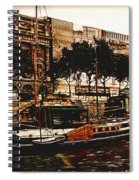 Boats On The Seine Spiral Notebook
