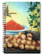 Bond's Still Life Of Bird And Dwarf Pear Tree Spiral Notebook