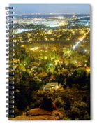 Boulder Colorado City Lights Panorama Spiral Notebook