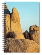 Boulders In A Desert, Joshua Tree Spiral Notebook