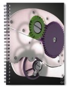 Brain Mechanism Spiral Notebook