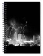 Budweiser Lightning Thunderstorm Moving Out Bw Spiral Notebook
