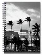 Buildings Lit Up At Dusk, Ocean Drive Spiral Notebook