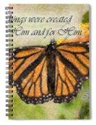 Butterfly Scripture Spiral Notebook