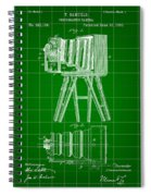 Camera Patent 1885 - Green Spiral Notebook