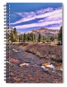 Canadian Rockies Stream Spiral Notebook