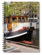 Canal In The City Of Amsterdam Spiral Notebook