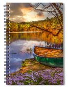 Canoe At The Lake Spiral Notebook