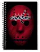 Capitals Jersey Mask Spiral Notebook