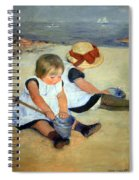 Cassatt's Children Playing On The Beach Spiral Notebook