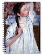 Cassatt's Girl Arranging Her Hair Spiral Notebook