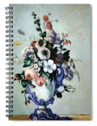 Cezanne's Flowers In A Rococo Vase Spiral Notebook