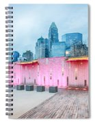 Charlotte City Skyline In The Evening Spiral Notebook